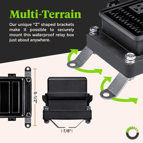 12v Auto Waterproof Fuse Relay Box Block 6 Bosch Style Relay Holder 6 Atc Ato Fuse Holder Universal Relay Block Box For In 2020 Jeep Lights Marine Boat Automotive