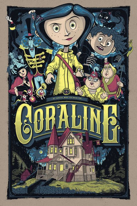 Coraline by Graham Erwin - Home of the Alternative Movie Poster -AMP-