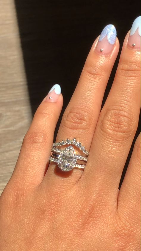 White Gold Moissanite Bridal Ring Set by La More Design - wedding rings - #bridal #Design #Gold #Moissanite #Ring #rings #set #Wedding #weddingdecorations #weddingdresses #weddinghairstyles #weddingrings #weddingringsengagement #White