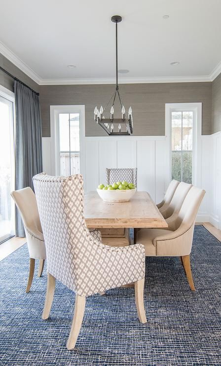 Chic Dining Space Homeinspo Diningroom Homedecor Dining Room Blue Grey Dining Room Dining Room Rug