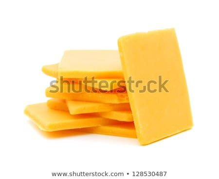 Cheddar Cheese Slices On White Background Cheddar Cheese Cheddar White Background