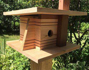 123 Safe Haven Ave Etsy Modern Birdhouses Bird Houses Unique Bird Houses