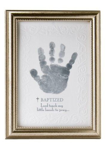 The Grandparent Gift Co. Photo Frame, Baptism Handprint...wish we had done this with Isaac!  Seems silly to have one for Eli, but not Isaac