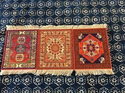 3pcs Set Miniature Oriental Rugs For