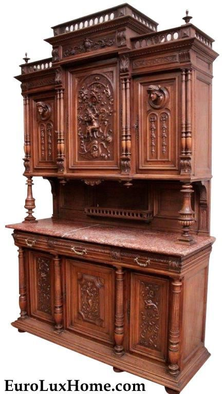 Heavily Carved Antique French Cabinet Or Buffet This Antique French Cabinet Or Buffet With Its Impres Walnut Wood Furniture Walnut Wood Hand Crafted Furniture