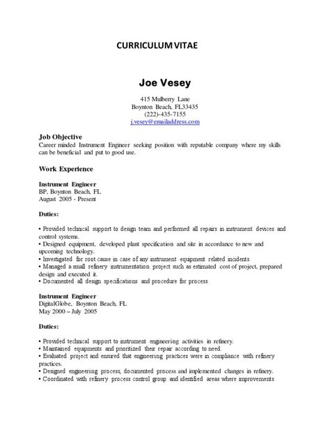 stunning instrument engineering resume pictures resume samples