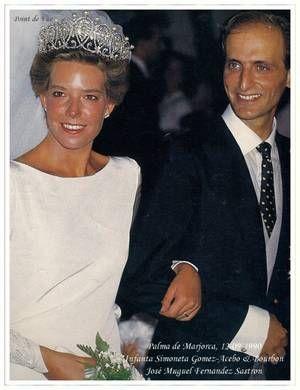 The Wedding Dress Infanta Simoneta Gomez Acebo Bourbon Blog De Myroyalty Skyrock Com Wedding Dresses Royal Weddings Pearl Tiara