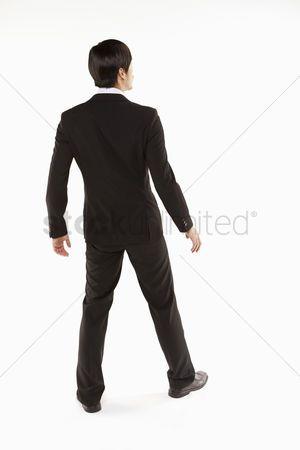 Businessman Standing Back Facing Camera Stock Photo Aff
