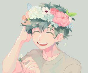 Image Result For Anime Boy Flower Crown Anime Flower Hero My Hero