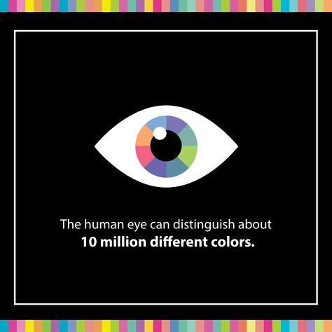 VARYING WAVELENGTHS of light blend to produce millions of different colors! Our eyes can identify over 10 million of them!