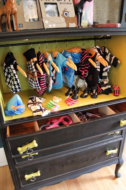 Itsy Bits and Pieces: The 2012 Bachman's Fall Ideas House Part 3...Upstairs..   For the well dressed dog's wardrobe