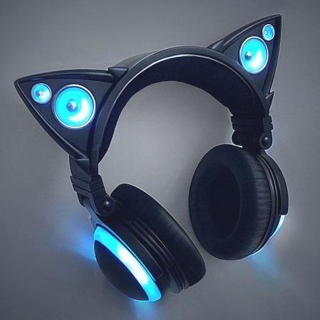Cat Ears Earphones So Cute A Must Buy Cute Headphones Cat Headphones Headphones