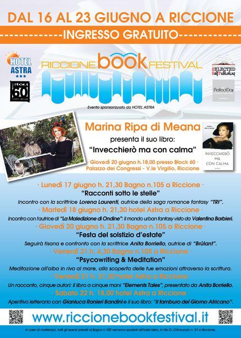 Locandina ufficiale Riccione Book Festival @R_BookFestival http://www.riccionebookfestival.it/il-calendario-degli-eventi/
