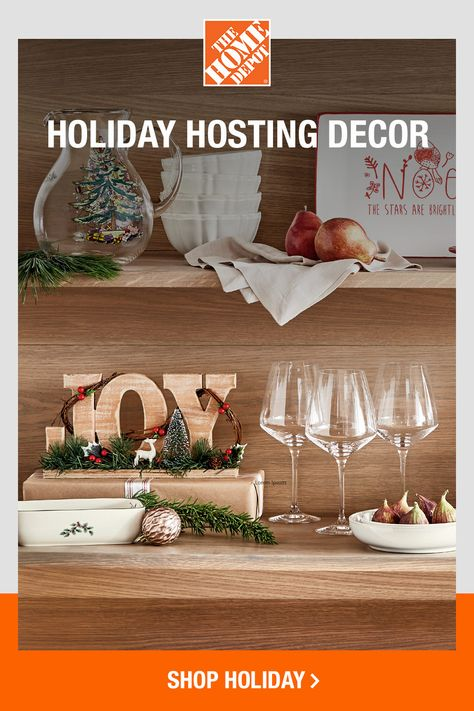 From decorating to hosting to serving, The Home Depot has festive styles you can't wait to show off. Tap to shop chic pieces and charming accents for a gift or for yourself online at The Home Depot.