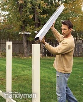 Installing A Vinyl Fence Fence Post Installation Vinyl Fence
