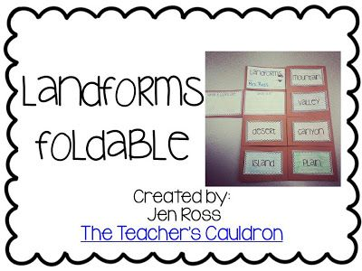 Landform foldable book freebies!