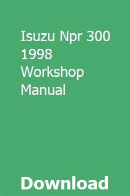 Isuzu Npr 300 1998 Workshop Manual Mercedes Sprinter Manual Medium Duty Trucks