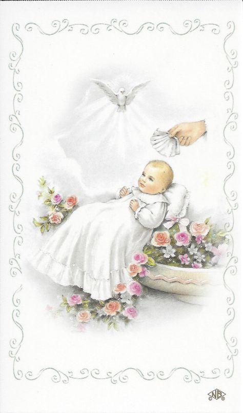 Кузбасс, открытка с крещением ребенка девочку