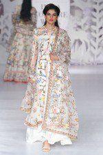 Dhupion Silk Anarkali Suit In White Colour