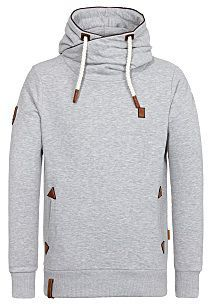 NAKETANO Pommes Im Weltall Hooded Sweatshirt for Men Beige