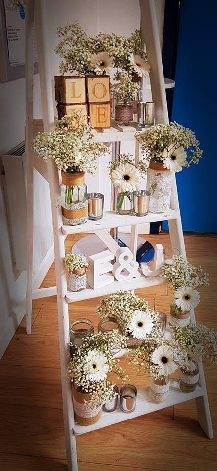 Vintage Decorated Step Ladder Vintage Wedding Venues Wedding