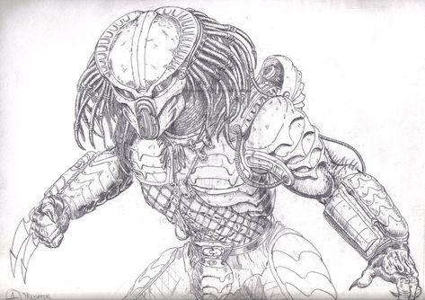 Alien vs Predator Coloring Pages | Alien Predator Coloring Pages ...