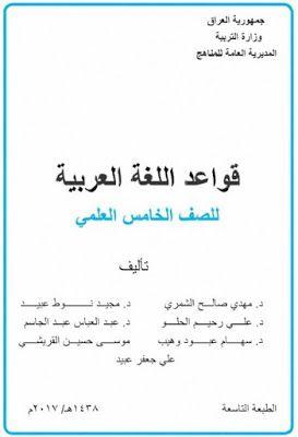 قواعد اللغة العربية للصف الخامس العلمى الطبعة التاسعة Pdf Math Math Equations