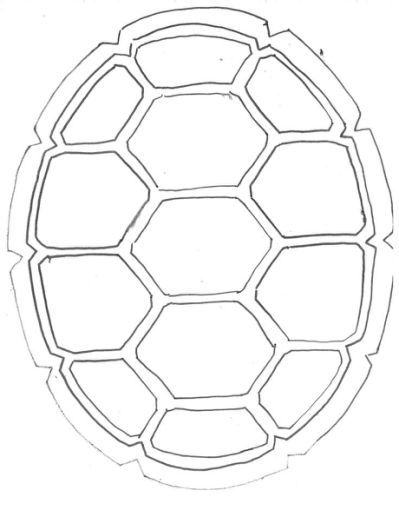 Mario Turtle Shell Coloring Page