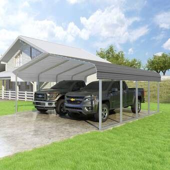 Steel Carport 12 Ft X 20 Ft Canopy In 2020 Steel Carports Building Systems Carport