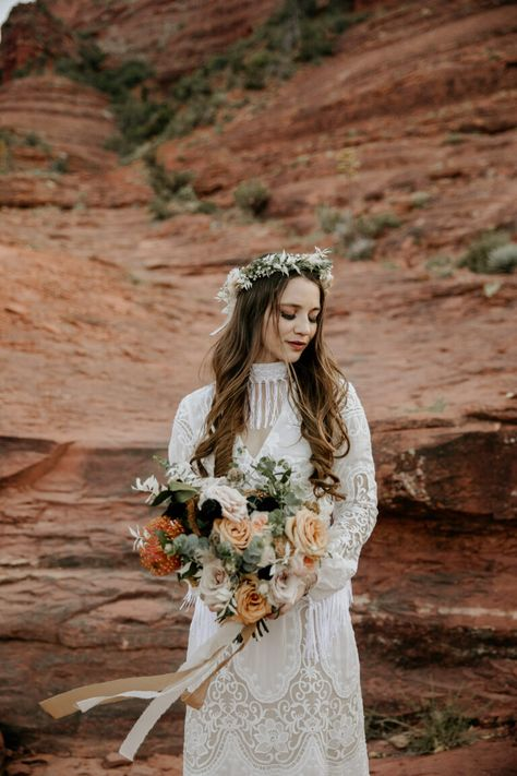 Allison And Zach Cathedral Rock Elopement Bridal Bouquet Fall