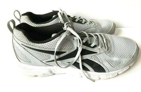 Reebok Mens Sz 9.5 M Grey Running Shoe Lightweight Classic Walking Athletic  #Reebok #RunningShoes #Casual
