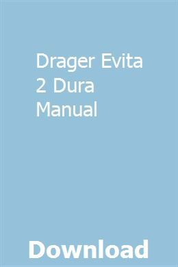 Drager Evita 2 Dura Manual Repair Manuals Manual Car Repair