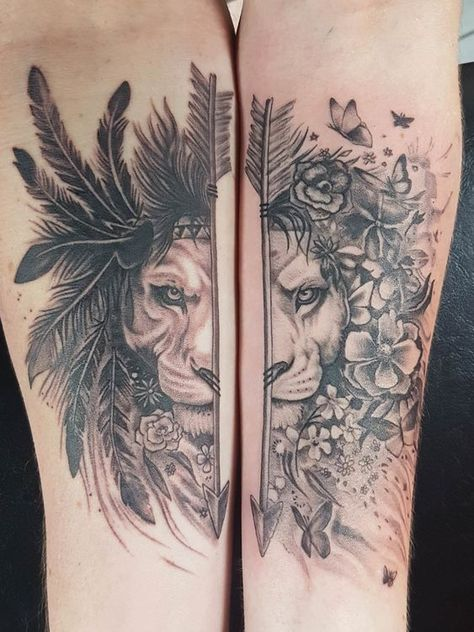 #forearmtattoos #coupletattooideas #tattooideasfortwo Check out our website for more Tattoo Ideas 👉 positivefox.com