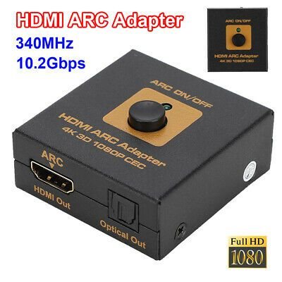 14 47 Hdmi To Hdmi Arc Adapter Optical Audio Converter 4k 1080p Cec 340mhz 10 2gbps Hdmi Adapter Optical