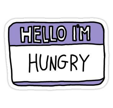 Hello I'm Hungry Sticker