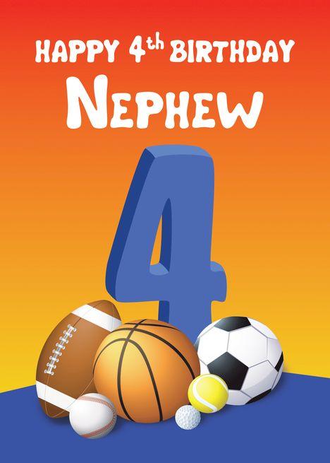 Happy 4th Birthday Nephew : happy, birthday, nephew, Nephew, Birthday, Sports, Balls, #Paid,, #Birthday,, #Nephew,, #Sports, Happy, Birthday,