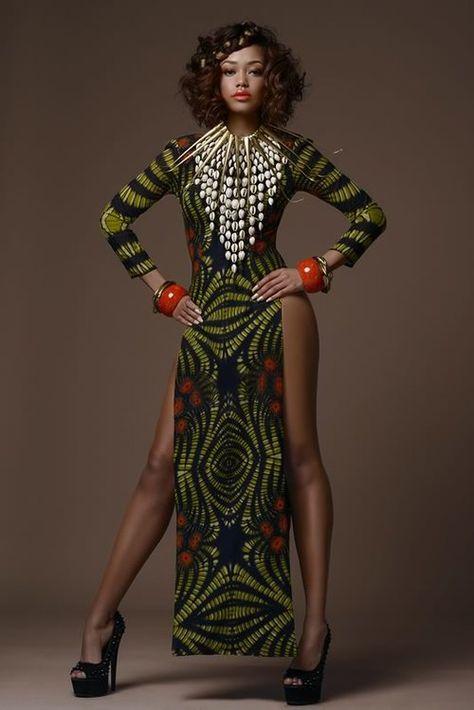Gorgeous Tribal Noveau Riche - Africa Fashion Week London