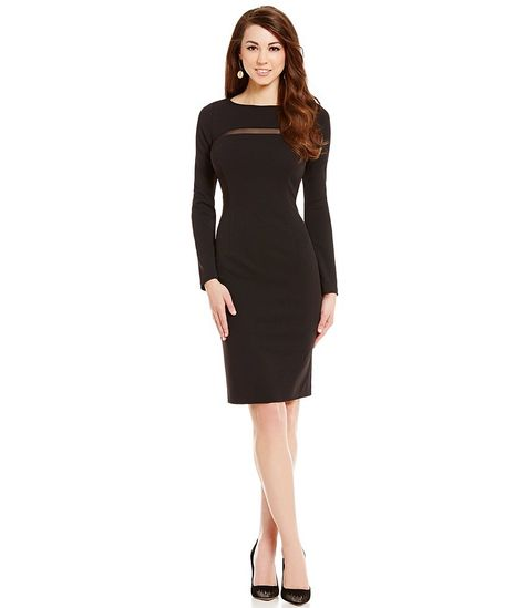 b2e37e7c348 Antonio Melani Natalie Crew Neck Embroidered Crepe Dress