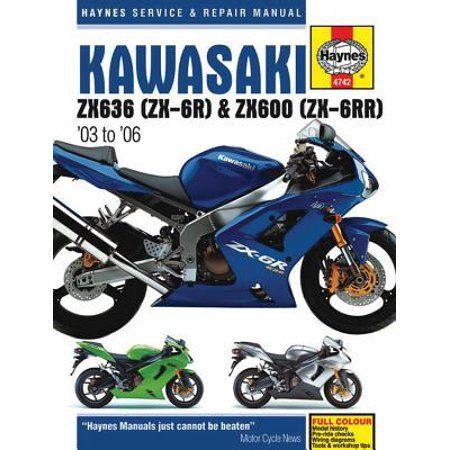 Haynes Service Repair Manual Kawasaki Zx636 Zx 6r Zx600 Zx 6rr 03 To 06 Paperback Walmart Com Repair Manuals Zx6r Kawasaki