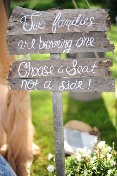 This sweet sign adds a personalized touch to wedding decor, and is super easy to #DIY! #weddings