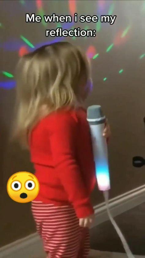 little kid..   Scott trying to sing    sassy attitude..