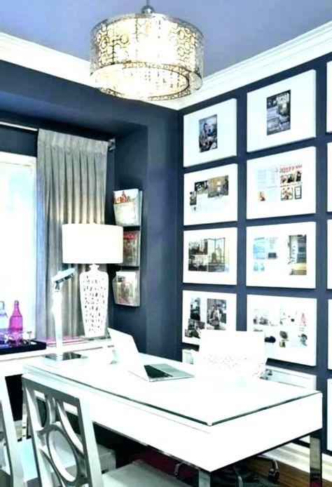 Blue Office Decor Sophisticated Feminine Home