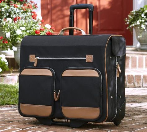Tomlin Rolling Garment Bag | Pottery Barn
