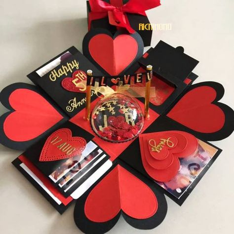❤ Explosion Boxes🎁 . 🔹Explosion Box with Written Messages/Pictures/Chocolates 🔸Customizable according to Occasion 🔹Starting from Rs.799/- only! 🔸Cash on Delivery Available! . 📲WhatsApp: 8447500540-7011759175