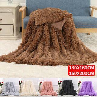 Long Pile Faux Fur Throw Sofa Bed