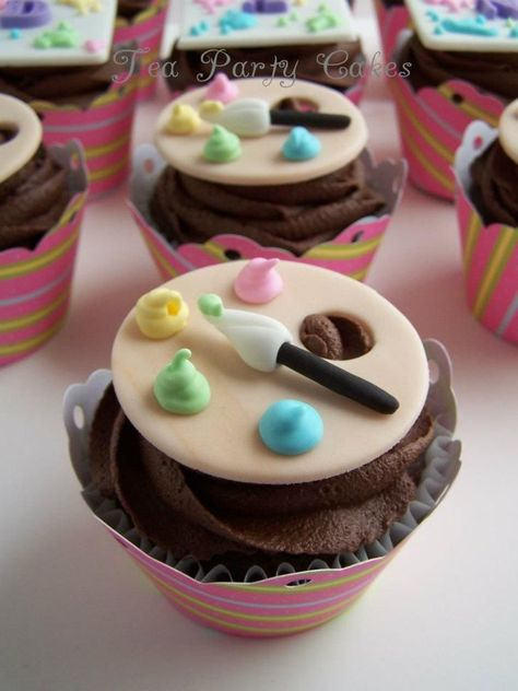 Kunst-Party-Cupcakes, #KunstPartyCupcakes,Kunst-Party-Cupcakes...