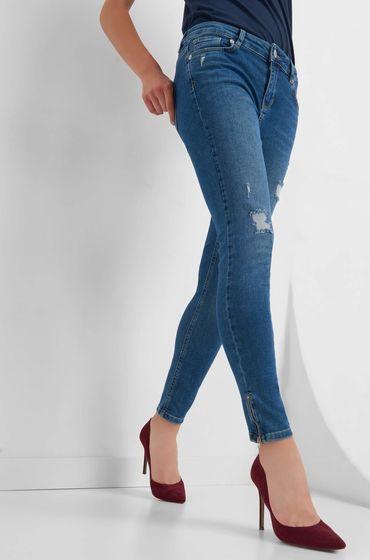 WOW Damen Jeans Hose Jeanshose high waist skinny Röhrenjeans High-Waist-Jeans