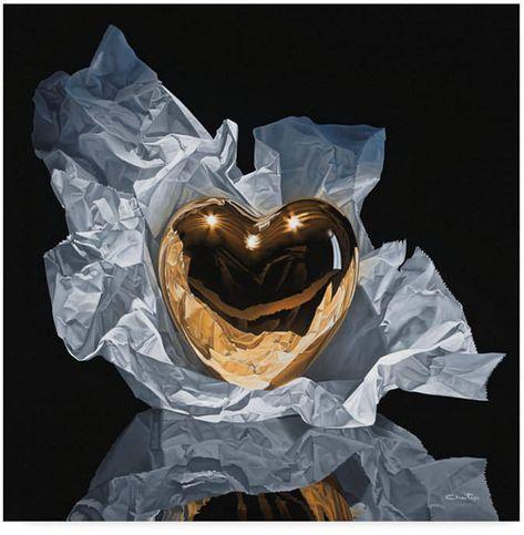 Francois Chartier 'Heart Of Gold' Canvas Art - 14 x 14