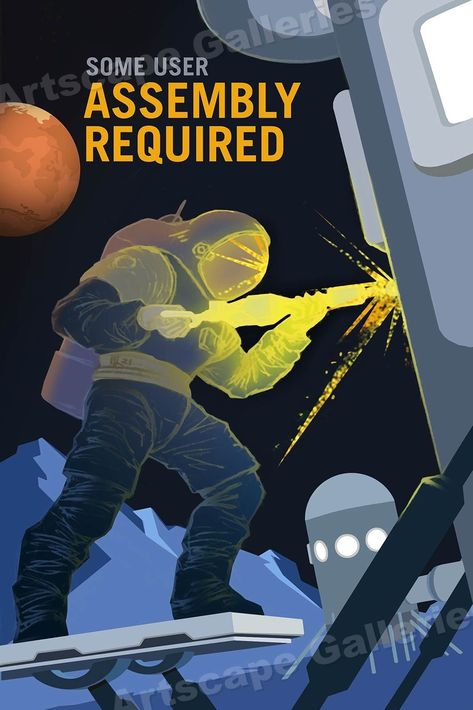 """""""Technicians Wanted"""" Space Exploration Retro Outer Space Travel Poster 16x24"""
