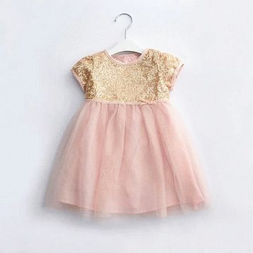 4d8719526f45 1 year old baby dress frock designs girl christmas first birthday party  wedding gold sequins pink evening dress clothes 80012-…